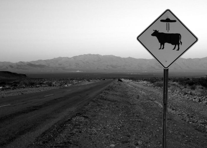 Fine Art Photography Greeting Card featuring the photograph Alien Highway by David Lee Thompson