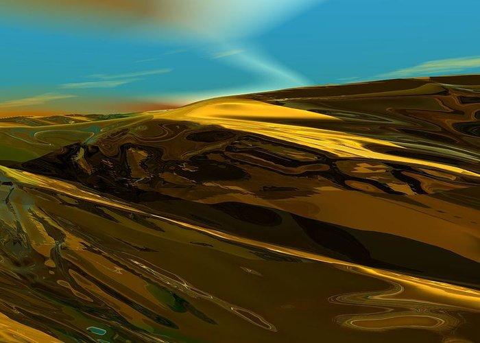 Landscape Greeting Card featuring the digital art Alien Landscape 2-28-09 by David Lane