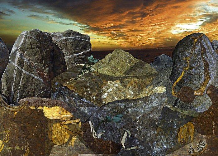 Fantasy Greeting Card featuring the digital art Alien Riff by Helga Schmitt