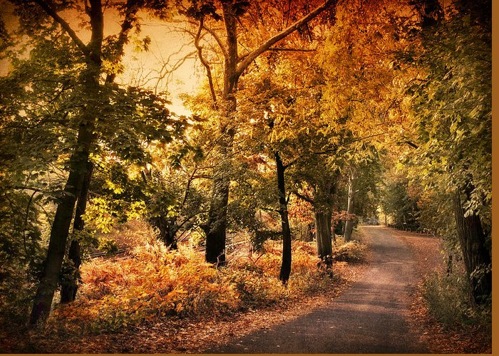 Country Lanes Digital Art Greeting Cards