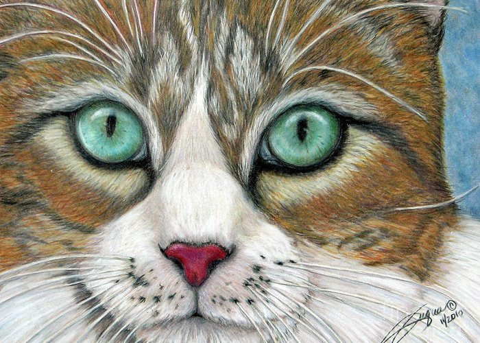 Pet Portraits Greeting Card featuring the drawing All I Want For Christmas Is A Home by Beverly Fuqua