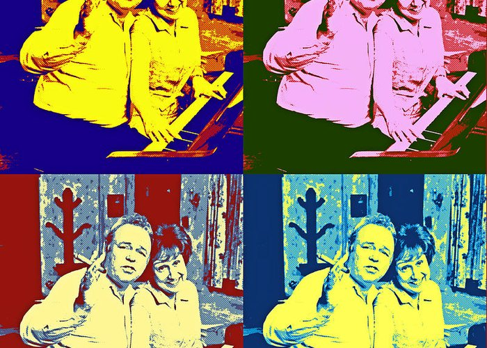 Archie Bunker Digital Art Greeting Cards
