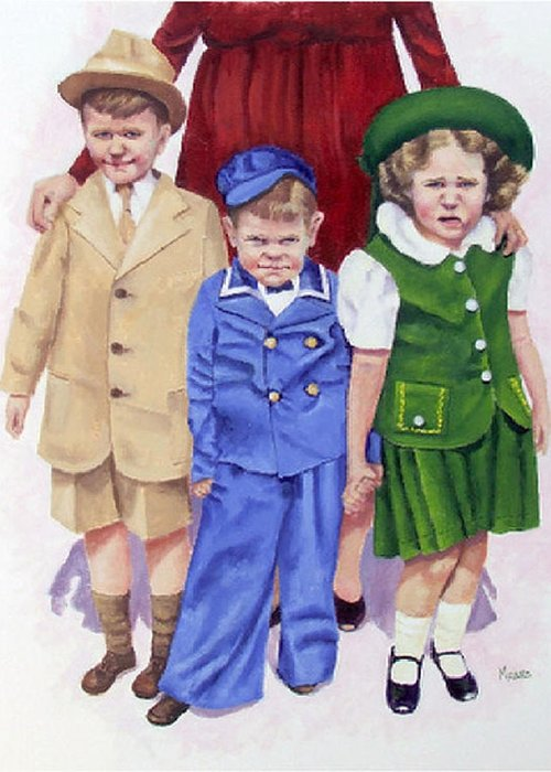 Children Greeting Card featuring the painting All My Children by Fran Rittenhouse-McLean