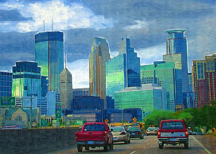 Minneapolis Greeting Card featuring the photograph All Roads Lead To Minneapolis by Tom Reynen