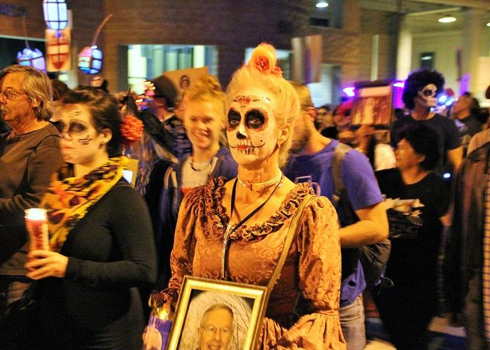 Greeting Card featuring the photograph All Souls Procession Tucson 3 by Kevin Mcenerney