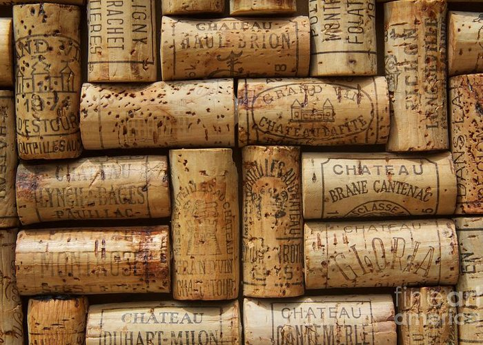 Wine Cork Art Greeting Card featuring the photograph Grand Cru by Anthony Jones
