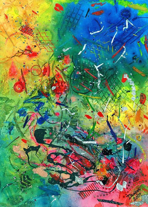 Abstract Greeting Card featuring the painting All The Kings Horses And All The Kings Men by James Douglas Draper