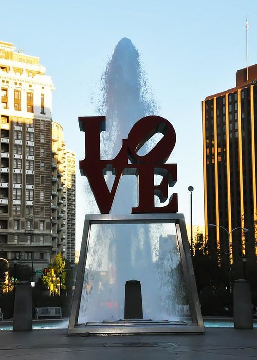 Love Park Greeting Card featuring the photograph All You Need Is Love by Bill Cannon