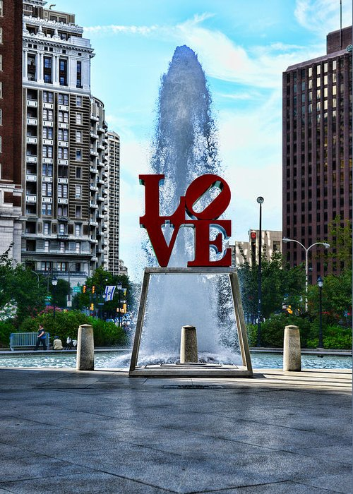 Love Park Greeting Card featuring the photograph All You Need Is Love by Paul Ward