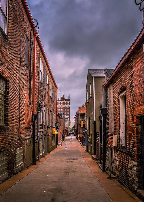 Alley Greeting Card featuring the photograph Alley A At Dawn by Heath Cajandig