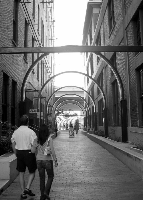 Photograph Greeting Card featuring the photograph Alley by Lindsey Orlando