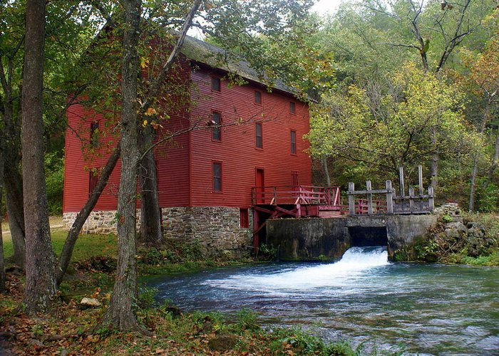 Ozarks Greeting Card featuring the photograph Alley Sprng Mill 3 by Marty Koch