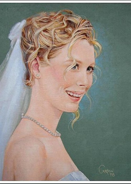 Wedding Greeting Card featuring the painting Allison by Jerrold Carton