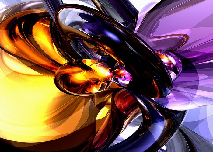3d Greeting Card featuring the digital art Alluring Grace Abstract by Alexander Butler
