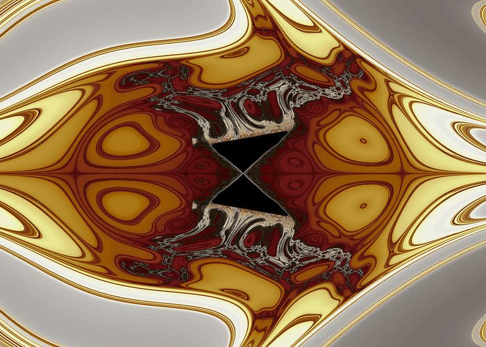 Abstract Greeting Card featuring the digital art Almost Cubic Manifestations No. 7 by Mark Eggleston