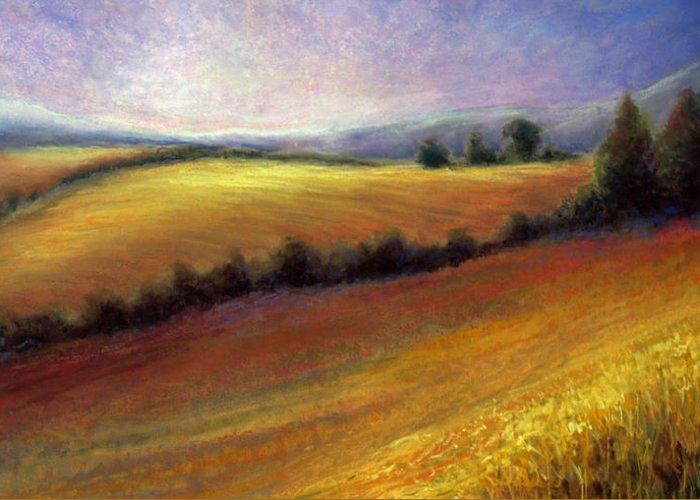 Field Greeting Card featuring the painting Almost Heaven by Susan Jenkins