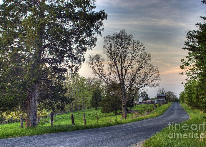 Virginia Greeting Card featuring the photograph Almost Home by Pete Hellmann