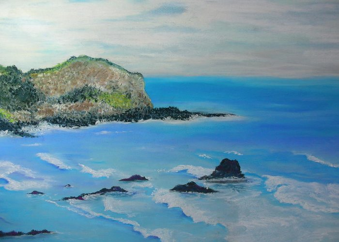 Hawaii Greeting Card featuring the painting Aloha by Melinda Etzold