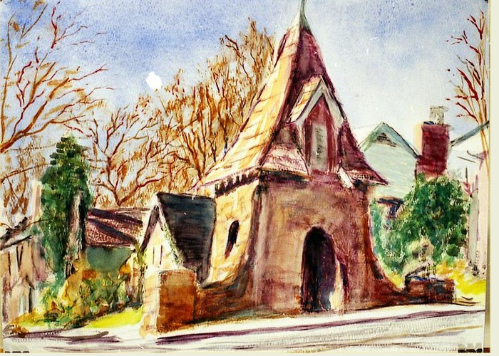 Watercolor Greeting Card featuring the painting Along Big Bend Blvd. by Horacio Prada