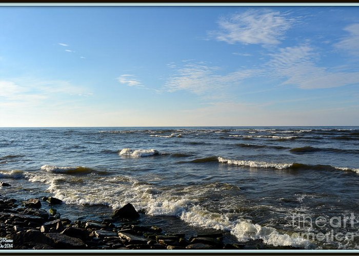 Landscape Greeting Card featuring the photograph Along Lake Ontario by Rennae Christman