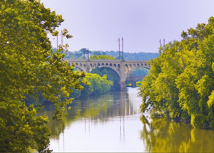 Schuylkill Greeting Card featuring the photograph Along The Schuylkill River In Manayunk by Bill Cannon