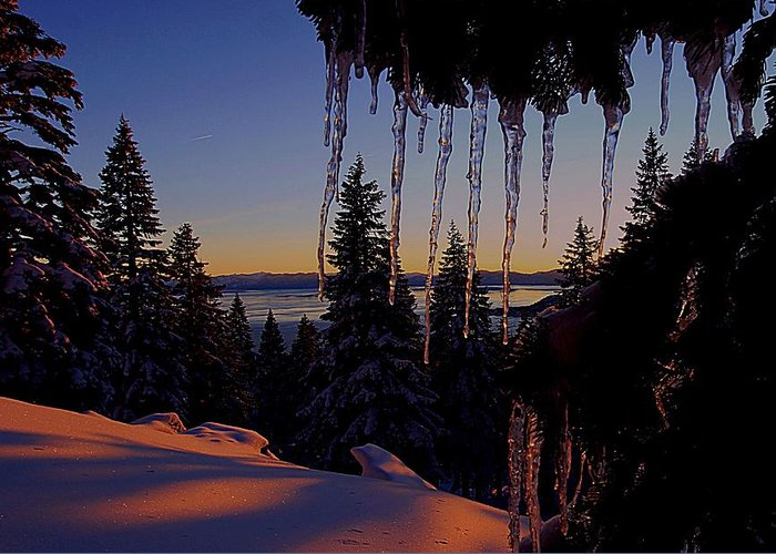 Lake Tahoe Greeting Card featuring the photograph Alpenglow Claws by Sean Sarsfield