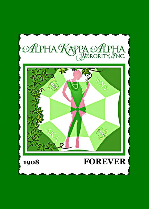Alpha kappa alpha greeting card for sale by lynda payton a k a greeting card featuring the digital art alpha kappa alpha by lynda payton m4hsunfo