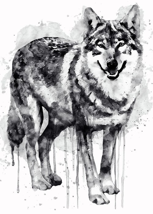 Alpha Wolf Greeting Cards