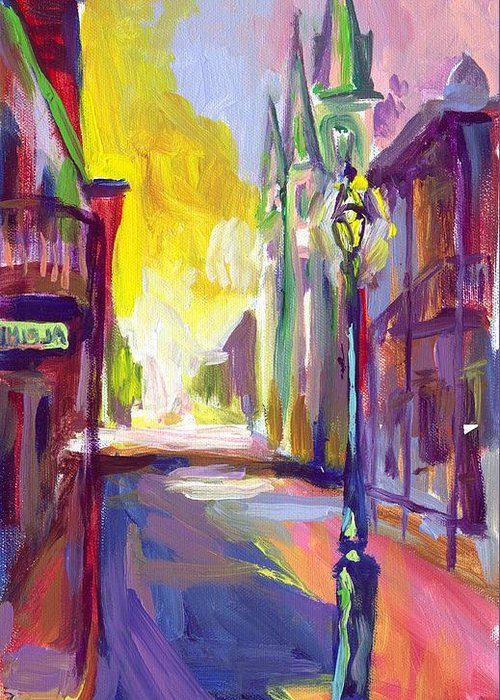 New Orleans Greeting Card featuring the painting Alpine by Saundra Bolen Samuel