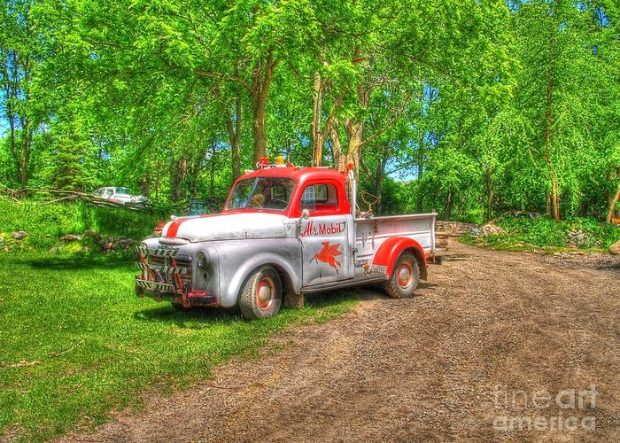 Truck Greeting Card featuring the photograph Al's Mobile by Jimmy Ostgard
