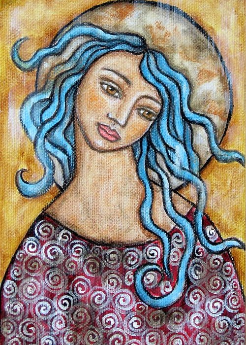 Paintings Greeting Card featuring the painting Altessa by Rain Ririn