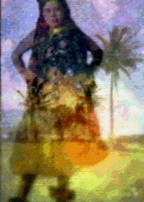 Tropical Interior Design Greeting Card featuring the photograph Aluna Ahiahi Hula by Kenneth Grzesik