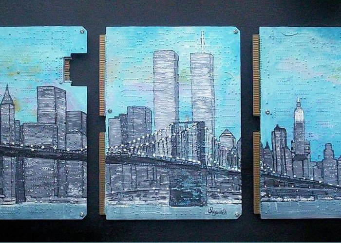 New York City Greeting Card featuring the painting Always by Cary Singewald