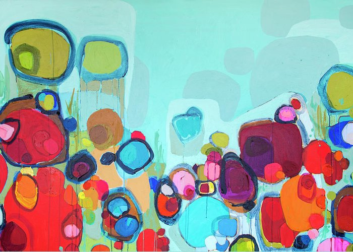 Abstract Greeting Card featuring the painting Always Will Be by Claire Desjardins