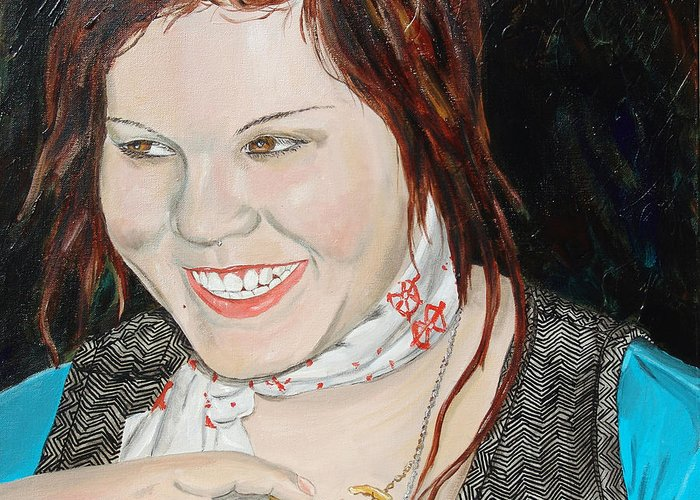 Kevin Callahan Greeting Card featuring the painting Alyssa Smiles by Kevin Callahan