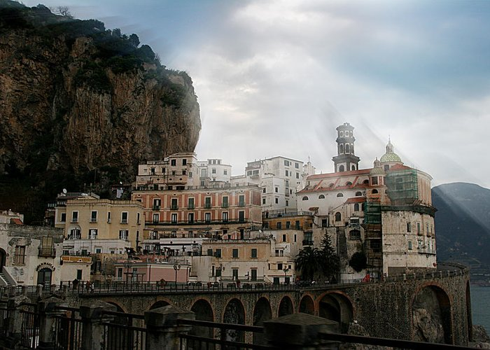 Amalfi Greeting Card featuring the photograph Amalfi Coast by Jim Kuhlmann