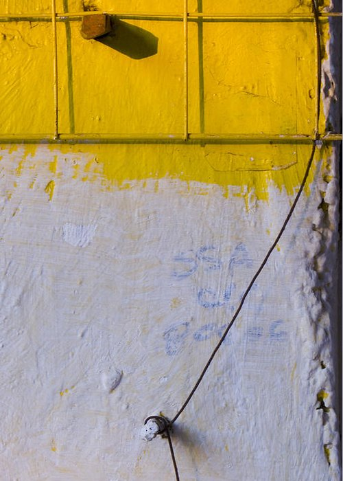 Abstract Greeting Card featuring the photograph Amarillo by Skip Hunt