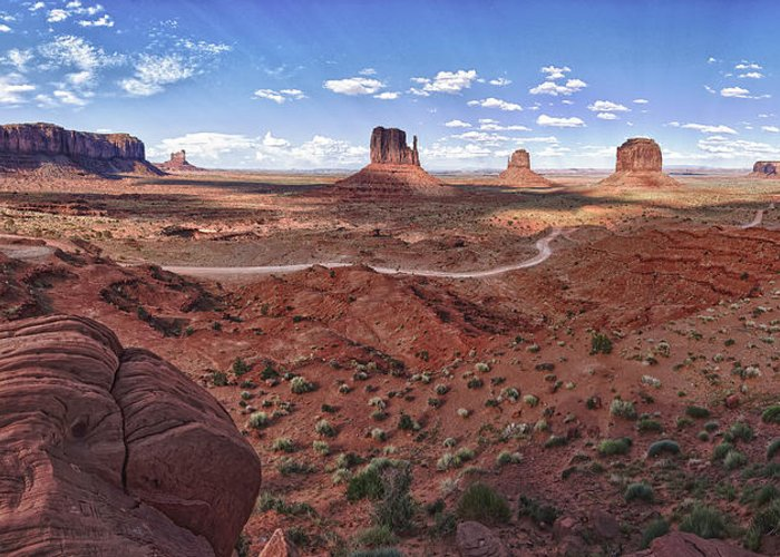 Arizona Greeting Card featuring the photograph Amazing Monument Valley by Andreas Freund