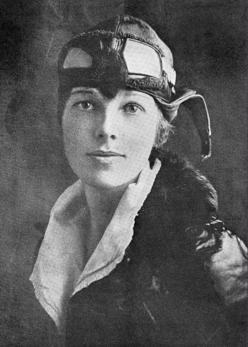 Amelia Earhart Greeting Card featuring the photograph Amelia Earhart, Us Aviation Pioneer by Science, Industry & Business Librarynew York Public Library