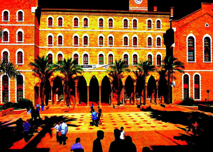Lebanon Greeting Card featuring the photograph Amercian University Of Beirut by Funkpix Photo Hunter