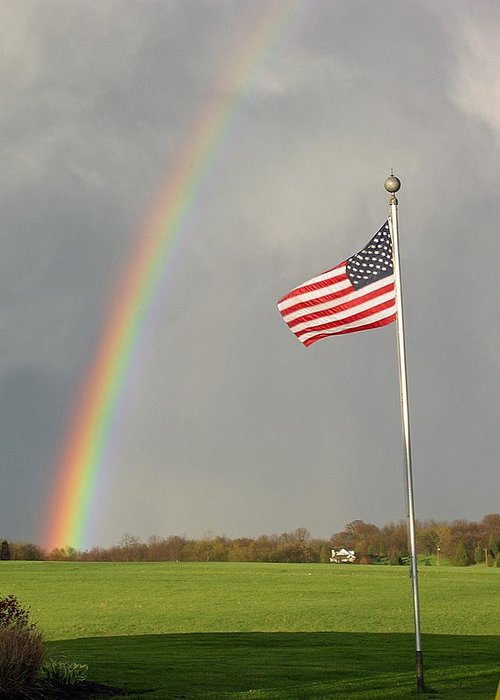 Patriotic Greeting Card featuring the photograph America by Martie DAndrea