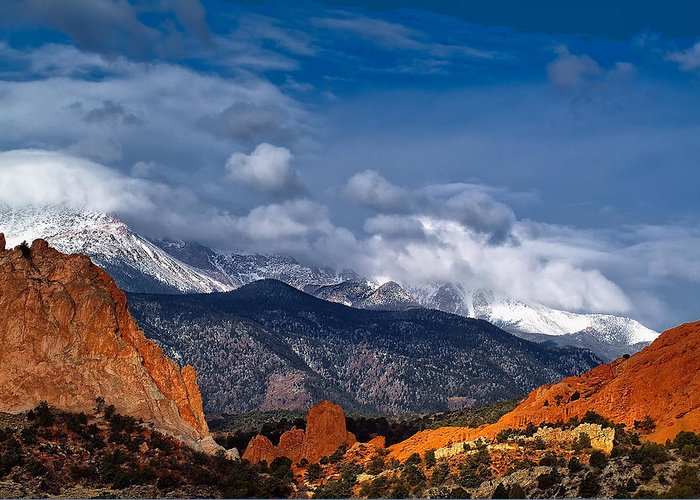 Landscape Greeting Card featuring the photograph America The Beautiful by Tim Reaves
