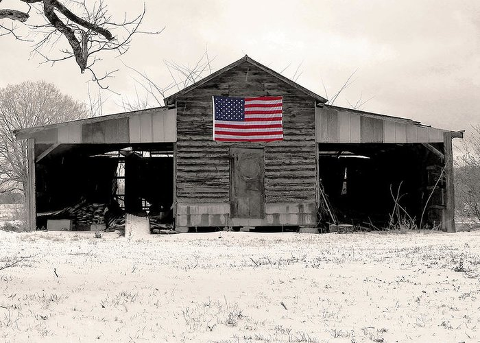 Barn Greeting Card featuring the photograph American Barn by Phil Rowe