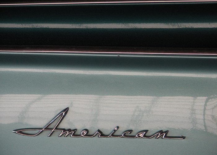 Rambler Greeting Card featuring the photograph American Classic by Kelly Mezzapelle