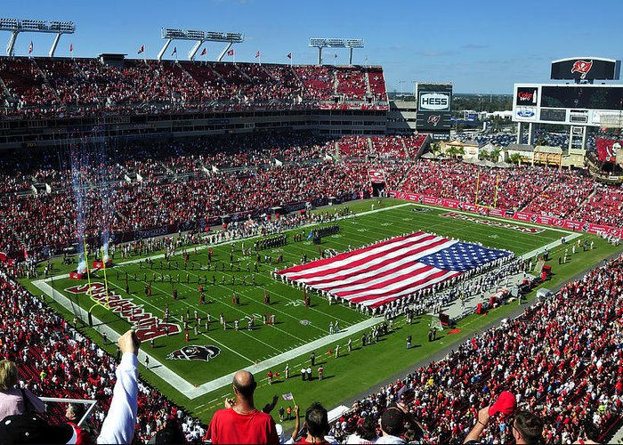 Fine Art Photography Greeting Card featuring the photograph American Pride Bucs Style by David Lee Thompson