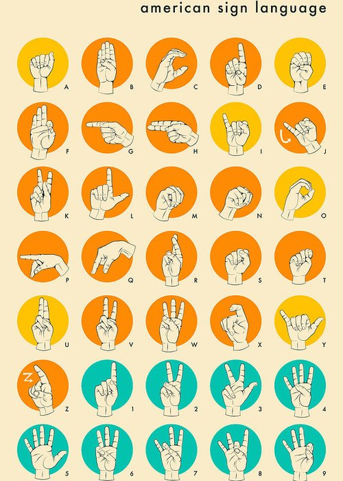 Hand Signs Greeting Cards