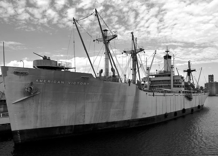 Fine Art Photography Greeting Card featuring the photograph American Victory Ship Tampa Bay by David Lee Thompson