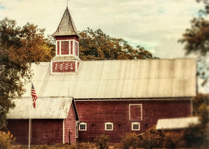 Barn Greeting Card featuring the photograph Americana Barn by Lisa Russo