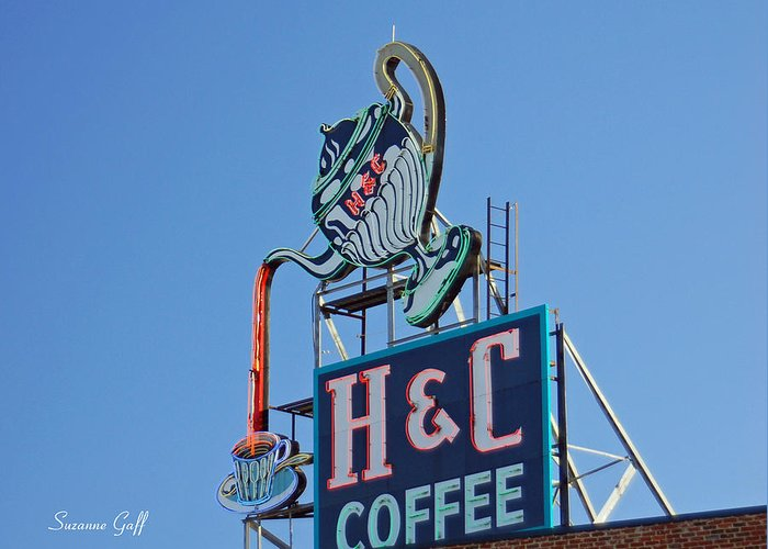 H & C Coffee Greeting Card featuring the photograph Americana Series IIi by Suzanne Gaff
