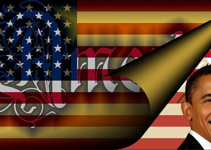 America Greeting Card featuring the digital art Americas New Design 2009 by Helmut Rottler